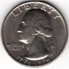 1/4 доллара 1976 США - 1/4 dollar 1976 USA, из оборота