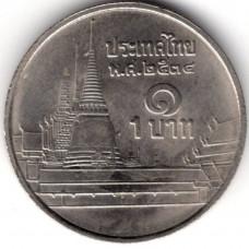 1 бат 1991 Таиланд - 1 baht 1991 Thailand, из оборота