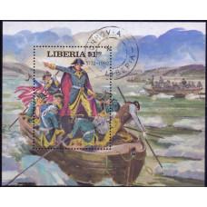 1981, июль. Сувенирный лист Либерии. Президенты Соединенных Штатов Америки, 1