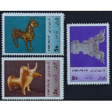 1967, февраль. Набор почтовых марок Ирана. Персидское искусство