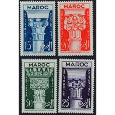 1952, апрель. Набор почтовых марок Марокко. Солидарность - Исламские столицы