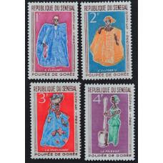 1966, январь. Набор почтовых марок Сенегала. Куклы