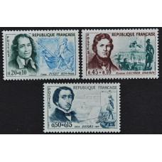 1960-1961. Набор почтовых марок Франции. Знаменитые мужчины