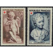 1950, декабрь. Набор почтовых марок Франции. Красный Крест