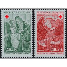 1970, декабрь. Набор почтовых марок Франции. Красный Крест