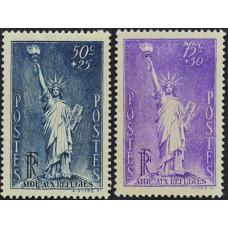 1936-1937. Набор почтовых марок Франции. Политические беженцы