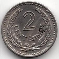 2 сентесимо 1953 Уругвай - 2 centesimos 1953 Uruguay, из оборота