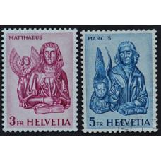 1961, сентябрь. Набор почтовых марок Швейцарии. Евангелисты