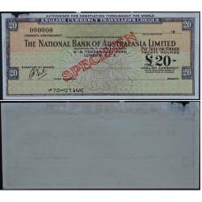 Дорожный чек 20 фунтов Австралия, образец - 20 Pounds Australia