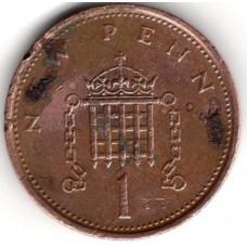 1 новый пенни 1976 Великобритания - 1 new penny 1976 Great Britain, из оборота