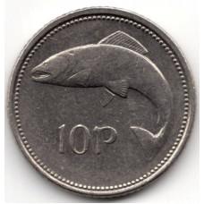 10 пенсов 1993 Ирландия - 10 pence 1993 Ireland, из оборота