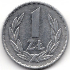 1 злотый 1974 Польша - 1 zloty 1974 Poland, из оборота