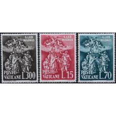 1961, апрель. Набор почтовых марок Ватикана. 1500-летие со дня смерти папы Льва I