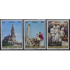 1967. Набор почтовых марок Ватикана. 50-летие Откровения Девы Марии в Фатиме