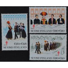 1976, сентябрь. Набор почтовых марок Финляндии. Профилактика туберкулеза
