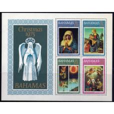 1973, октябрь. Набор почтовых марок Багамских островов. Рождество