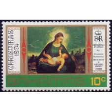 1974, октябрь. Почтовая марка Багамских островов. Рождество, 10С