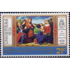 1974, октябрь. Почтовая марка Багамских островов. Рождество, 21С