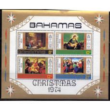 1974, октябрь. Набор почтовых марок Багамских островов. Рождество