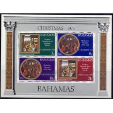 1975, декабрь. Набор почтовых марок Багамских островов. Рождество