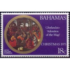 1975, декабрь. Почтовая марка Багамских островов. Рождество, 18С