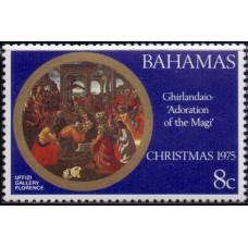 1975, декабрь. Почтовая марка Багамских островов. Рождество, 8С