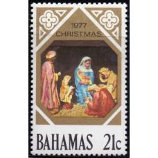 1977, октябрь. Почтовая марка Багамских островов. Рождество, 21С