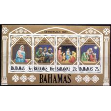 1977, октябрь. Набор почтовых марок Багамских островов. Рождество