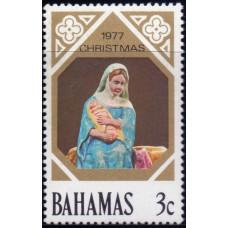1977, октябрь. Почтовая марка Багамских островов. Рождество, 3С