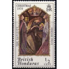 1970, ноябрь. Почтовая марка Британского Гондураса. Рождество - Живопись, ½С