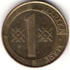 1 марка 1995 Финляндия - 1 markka 1995 Finland, из оборота