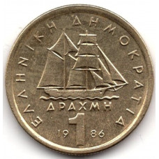 1 драхма 1986 Греция - 1 drachma 1986 Greece, из оборота