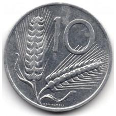 10 лир 1978 Италия - 10 lire 1978 Italy, из оборота