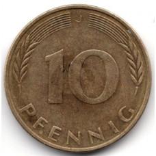 10 пфеннигов 1974 Германия (ФРГ) - 10 pfennig 1974 Germany, J, из оборота