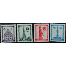 1949, февраль. Набор почтовых марок Германии. Реконструкция Фрайбурга