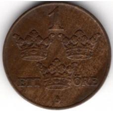1 эре 1929 Швеция - 1 ore 1929 Sweden, из оборота