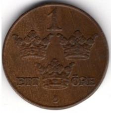 1 эре 1941 Швеция - 1 ore 1941 Sweden, из оборота