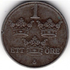 1 эре 1943 Швеция - 1 ore 1943 Sweden, из оборота