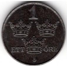 1 эре 1950 Швеция - 1 ore 1950 Sweden, из оборота