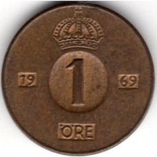 1 эре 1969 Швеция - 1 ore 1969 Sweden, из оборота