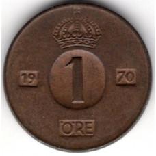 1 эре 1970 Швеция - 1 ore 1970 Sweden, из оборота