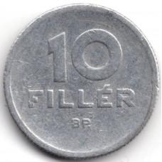 10 филлеров 1959 Венгрия - 10 filler 1959 Hungary, из оборота