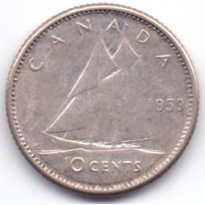 10 центов 1959 Канада - 10 cents 1959 Canada