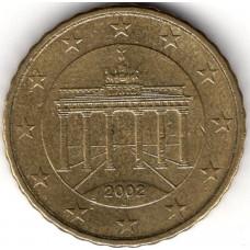 10 евроцентов 2002 года Германия - 10 euro cents 2002 Germany, из оборота, J