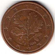 5 евроцентов 2009 Германия - 5 euro cents 2009 Germany F, из оборота